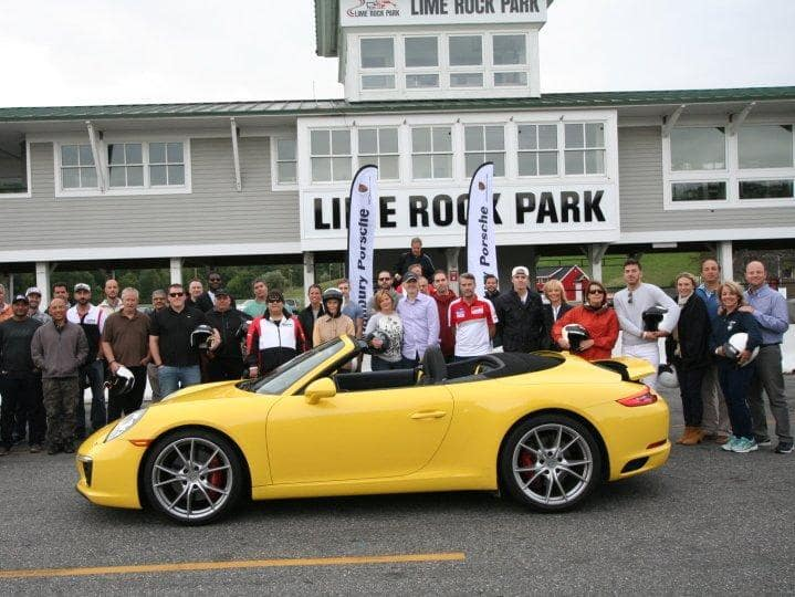 Big Day on the Lime Rock Track for Danbury Porsche VIPs!