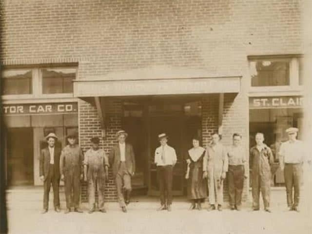 Old photo of employees