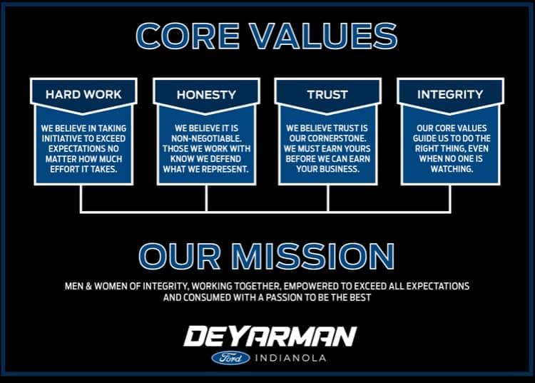 DaYarman Ford Core Values
