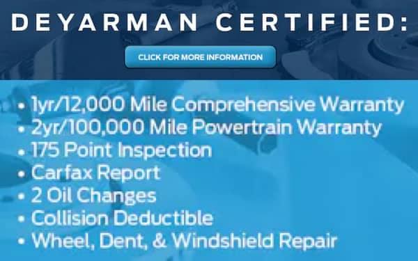 Deyarman Certified VRP Banner - DeYarman Ford - 1800x220