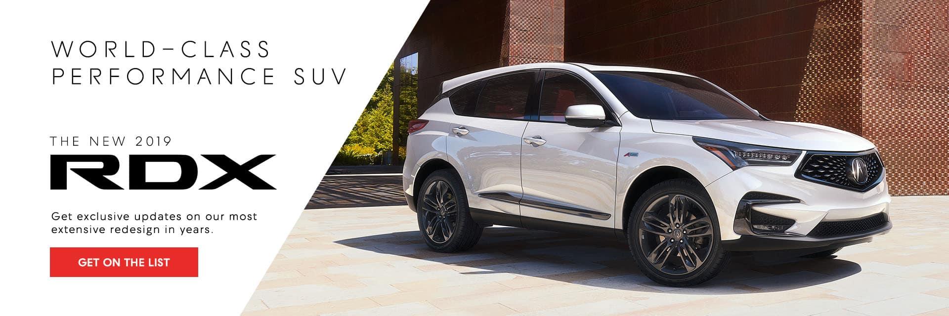 2019 Acura RDX - Get on the List