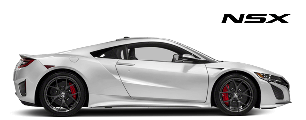 Acura NSX Vehicle Lineup Button