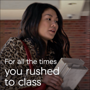 Acura College Graduate Program Rush to Class Graphic