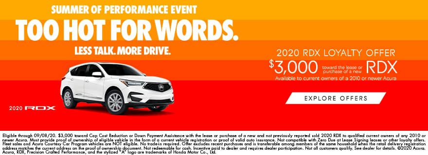RDX $3,000 Loyalty Offer