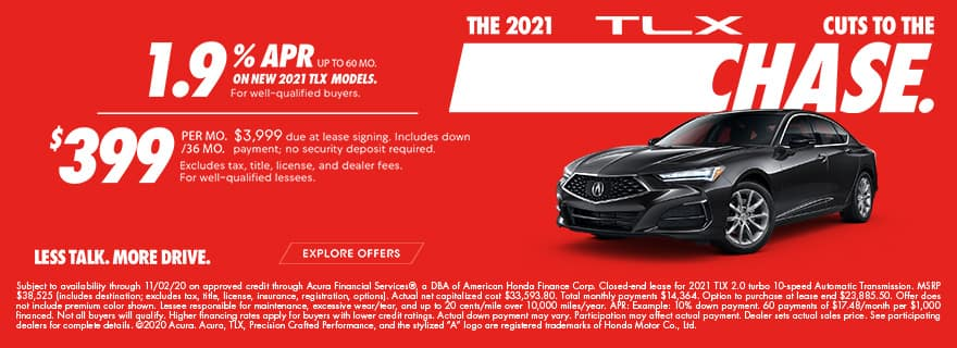 2021 TLX Dual Base Lease/APR Offer