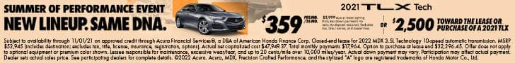2021 TLX Offer