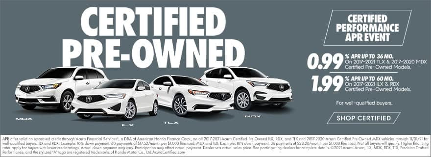 Acura Certified Pre-Owned Specials