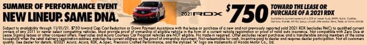 2021 Acura RDX offer