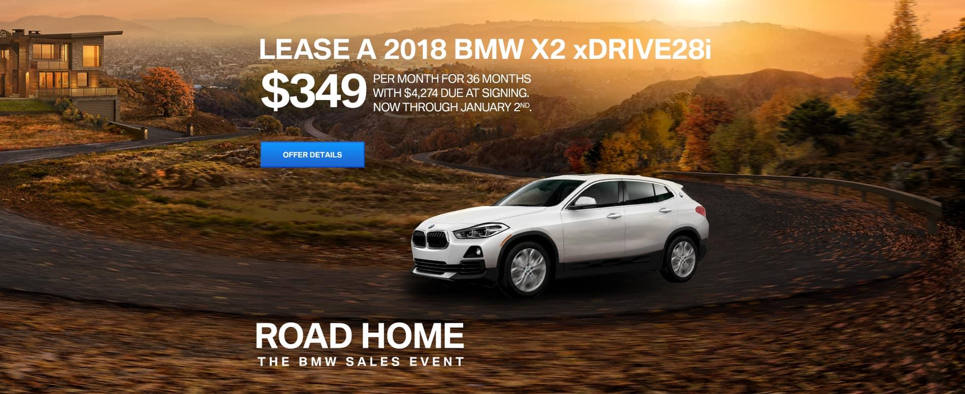 BMW X2 slider