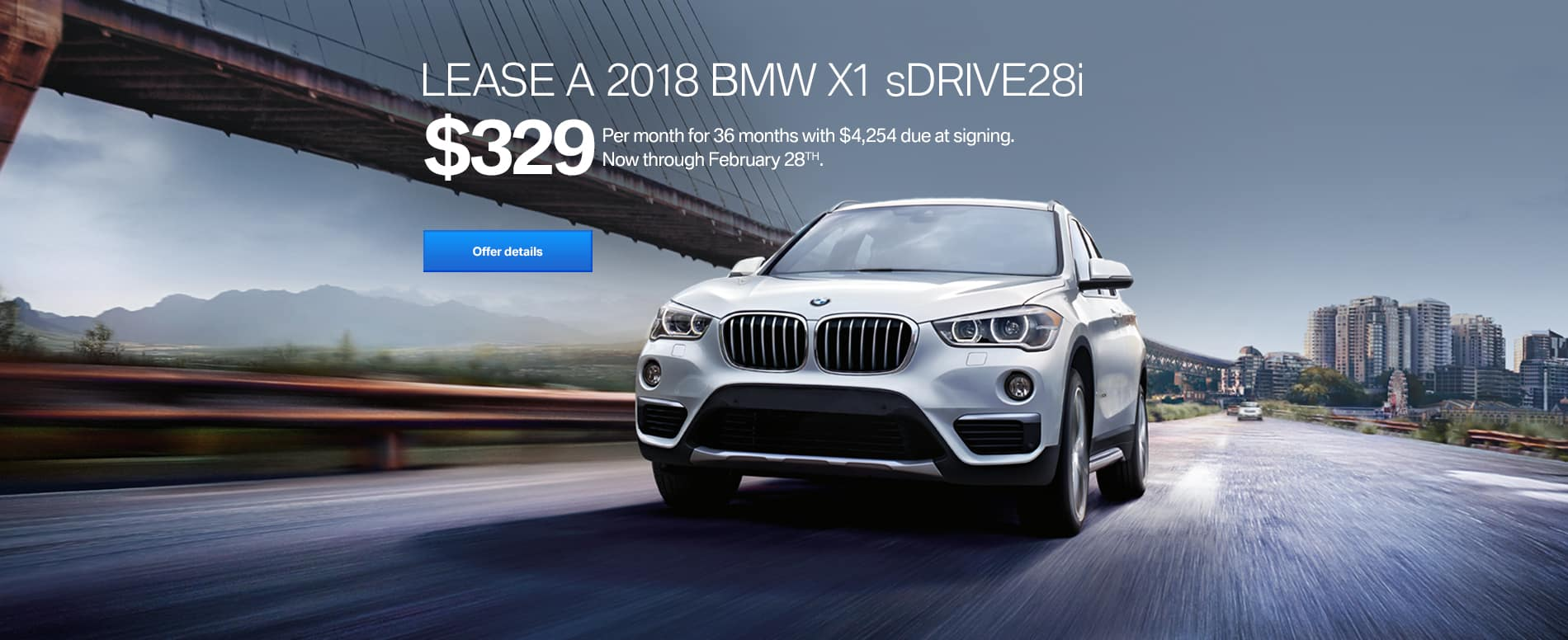 2018 BMW X1 xDrive28i 329 feb