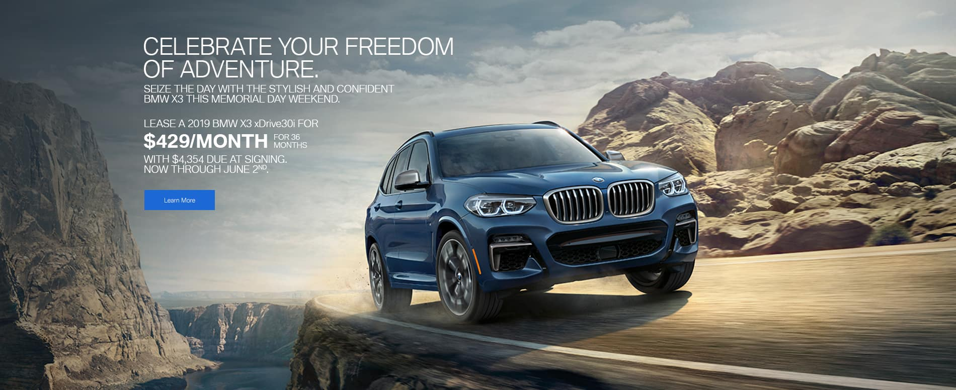 bmw x3 memorial day 2019