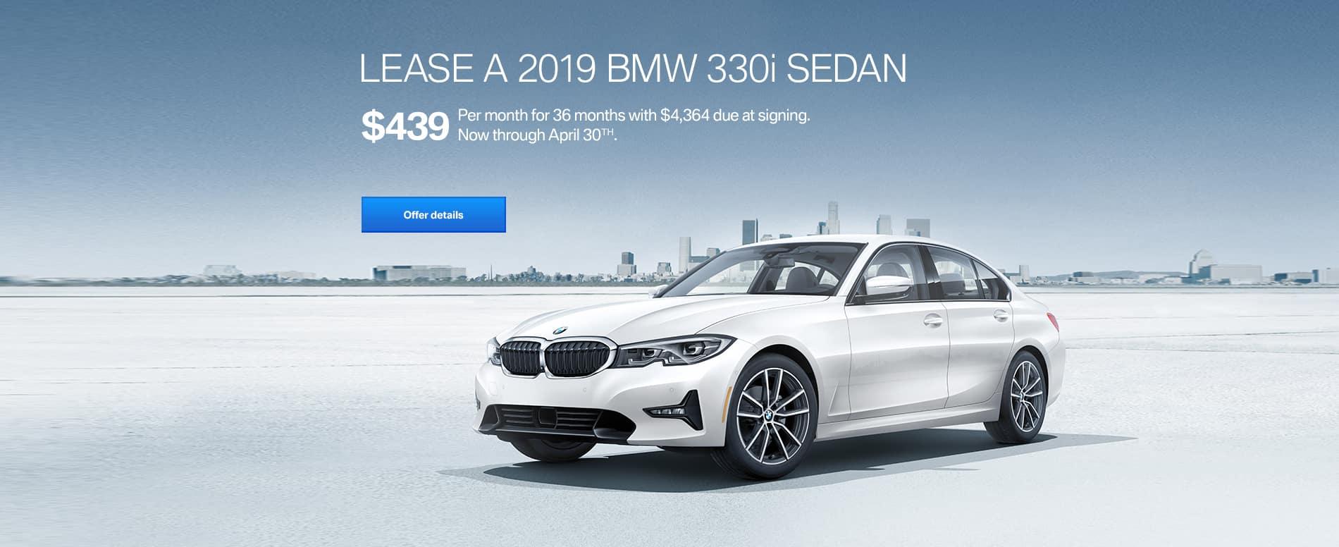 2019 BMW 330i April