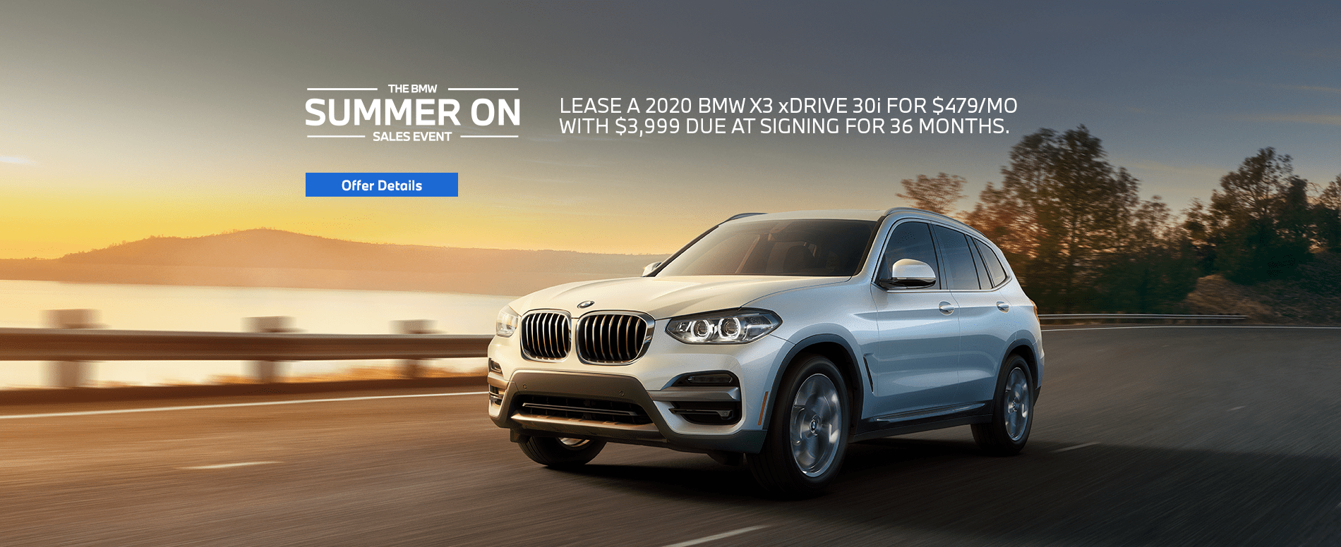 A reliable 2020 BMW X7 driving on an open road