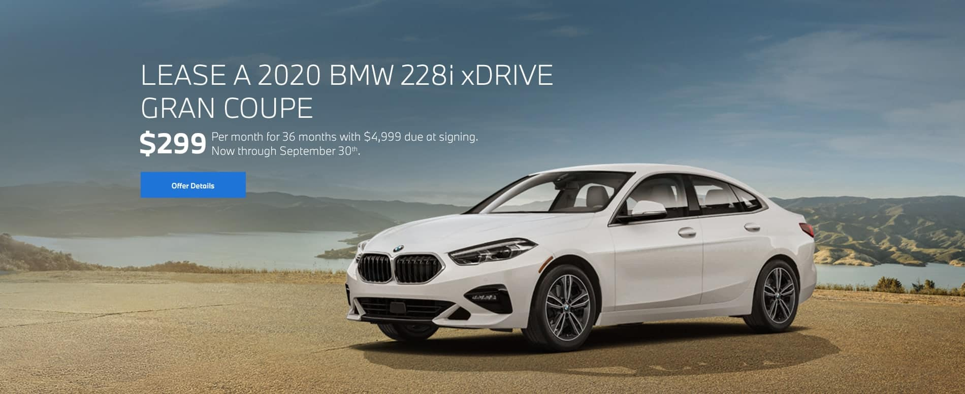 2020 BMW 228i xDrive Gran Coupe for $299/mo