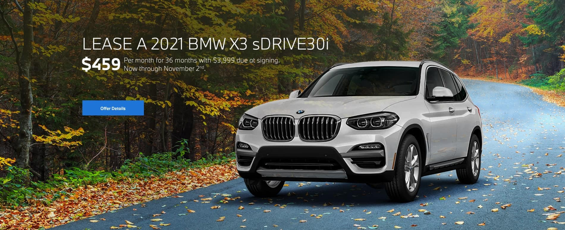 2021 BMW X3 sDrive30i Lease