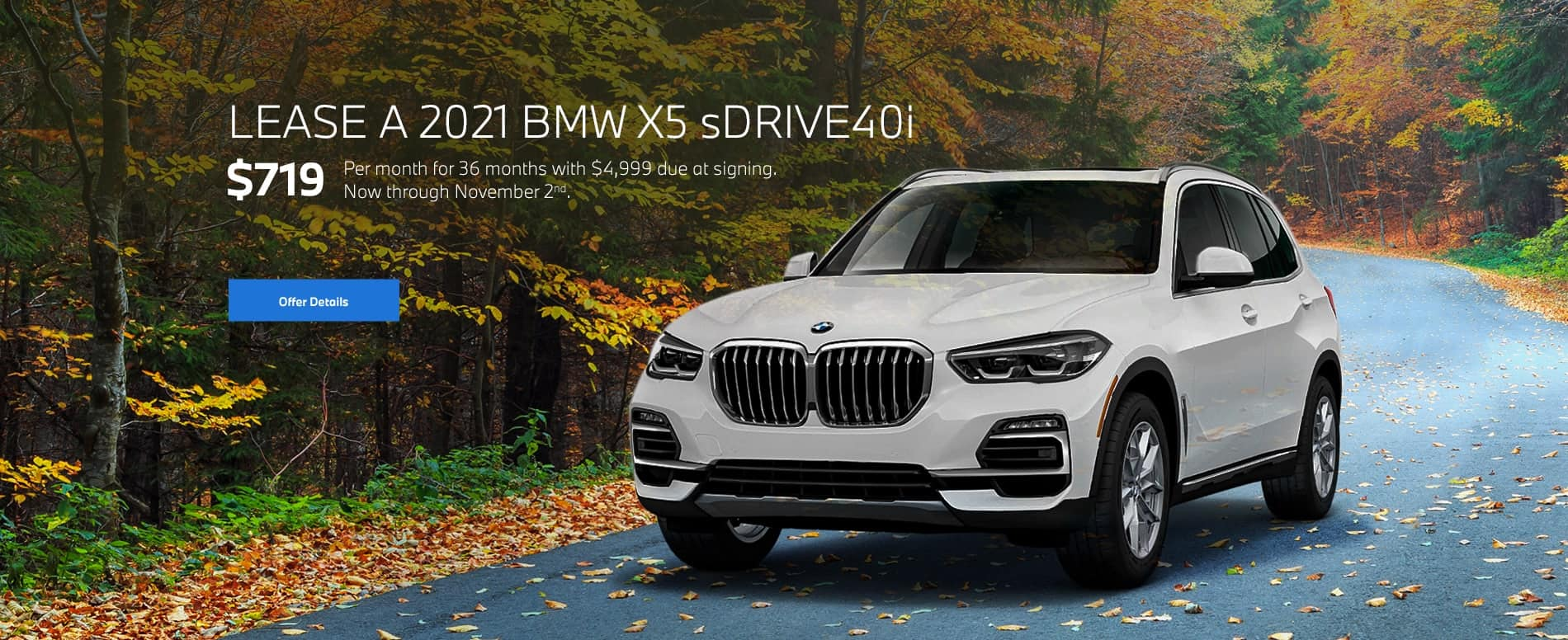2021 BMW X5 sDrive40i Lease