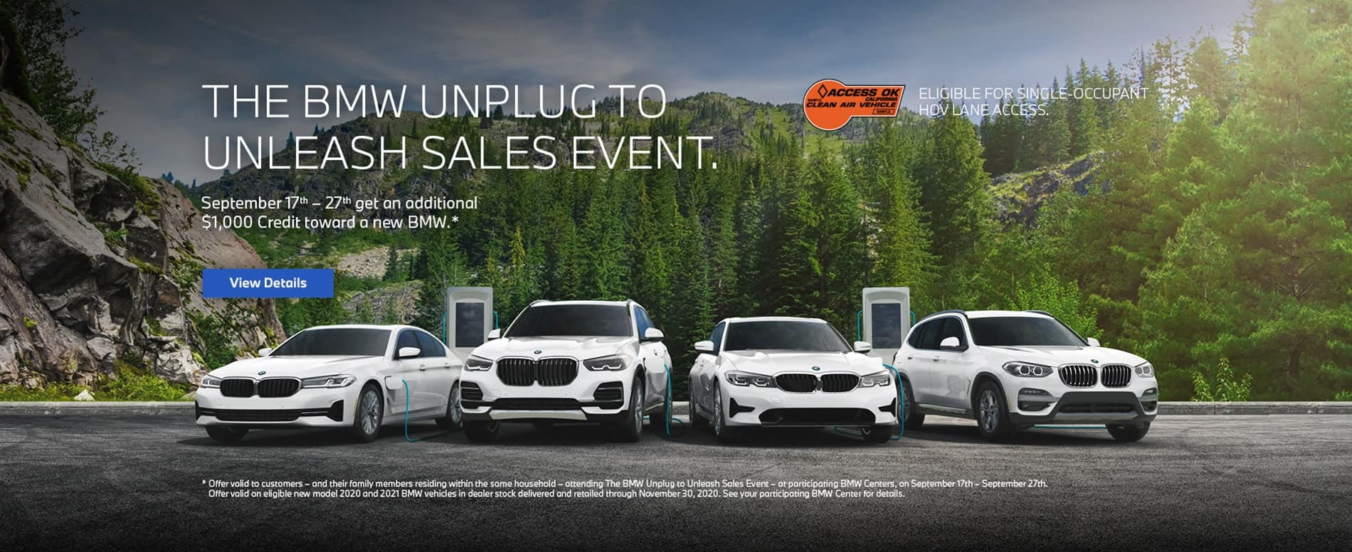 BMW Unplug to Unleash Sales Event