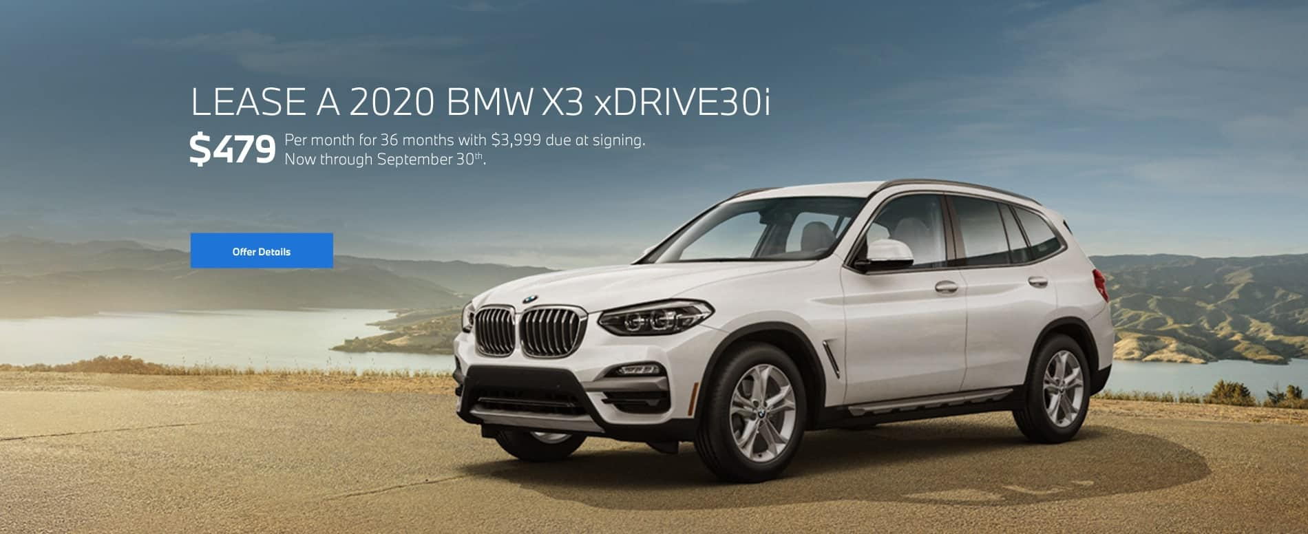 2020 BMW X3 xDrive30i for $479/mo