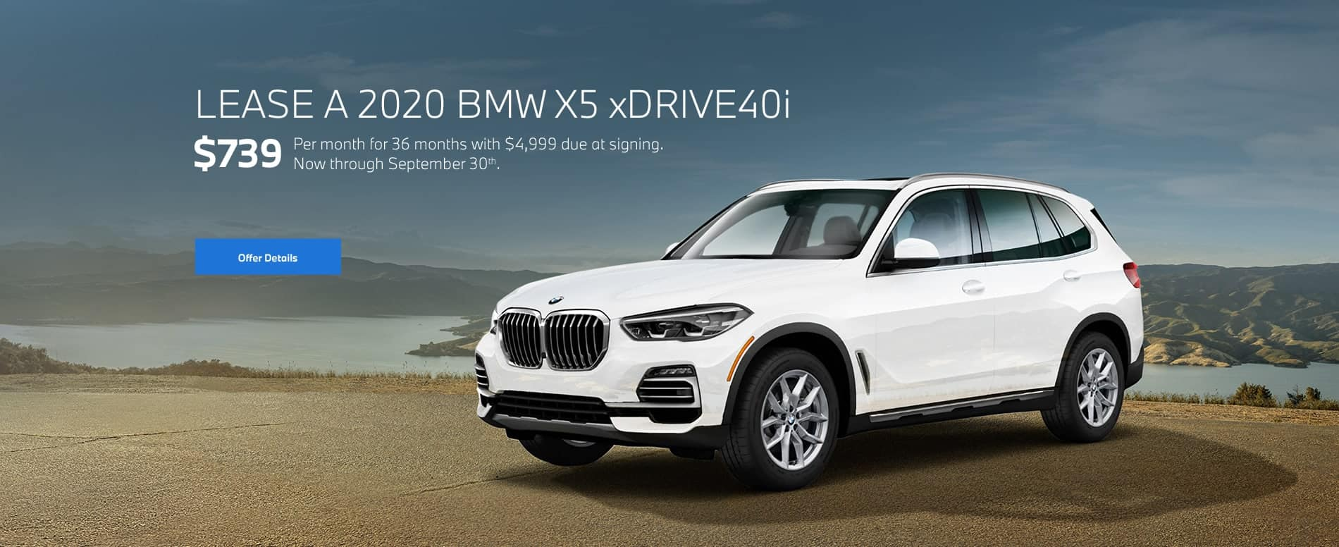 2020 BMW X5 xDrive40i for $739/mo