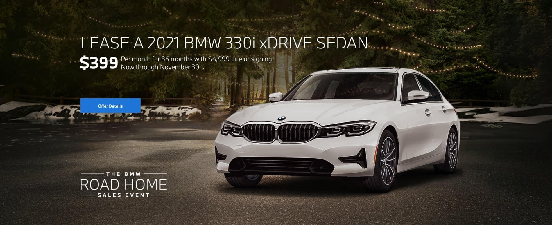 2021 BMW 330i xDrive Sedan Lease for $399/mo