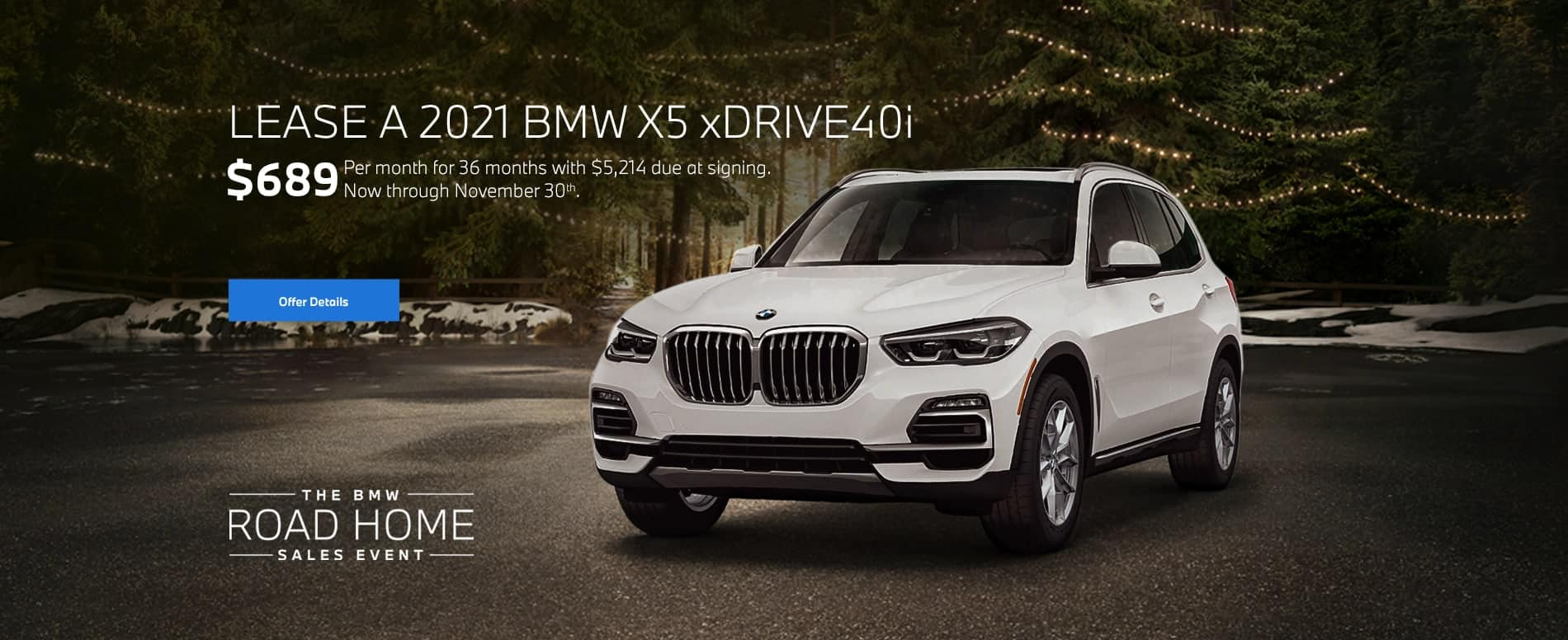 2021 BMW X5 sDrive40i Lease for $689/mo