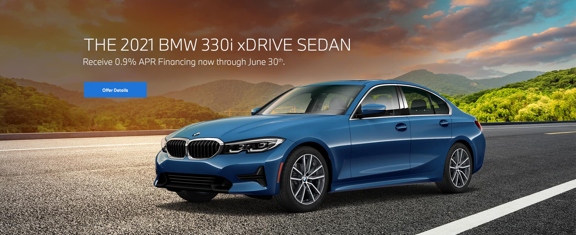 Phytonic Blue 3 Series on open road at dusk