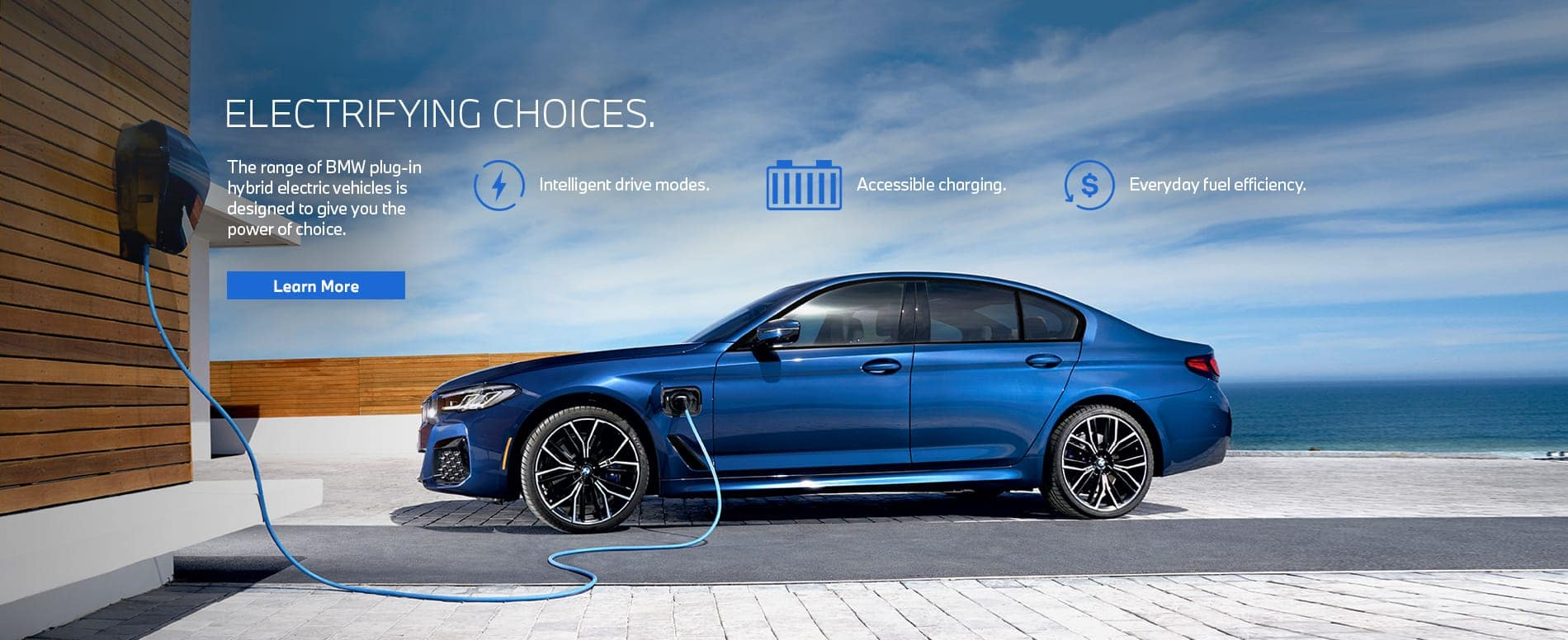 Blue 5 series plugged in charging