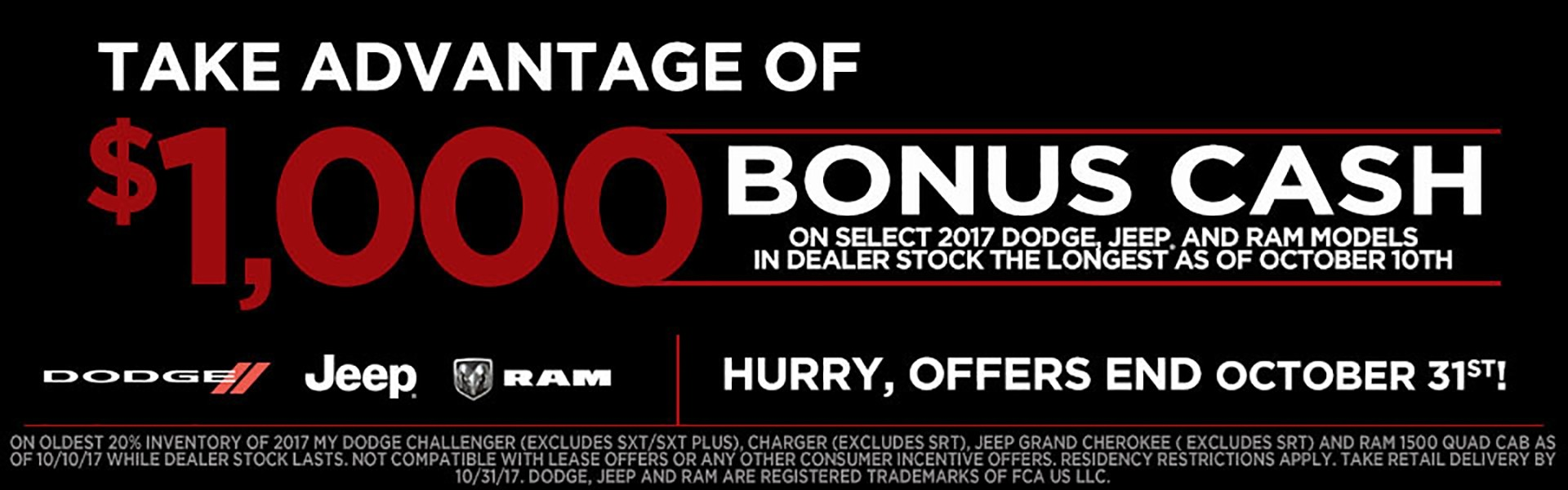 Bonus Cash Chrysler Dodge Jeep