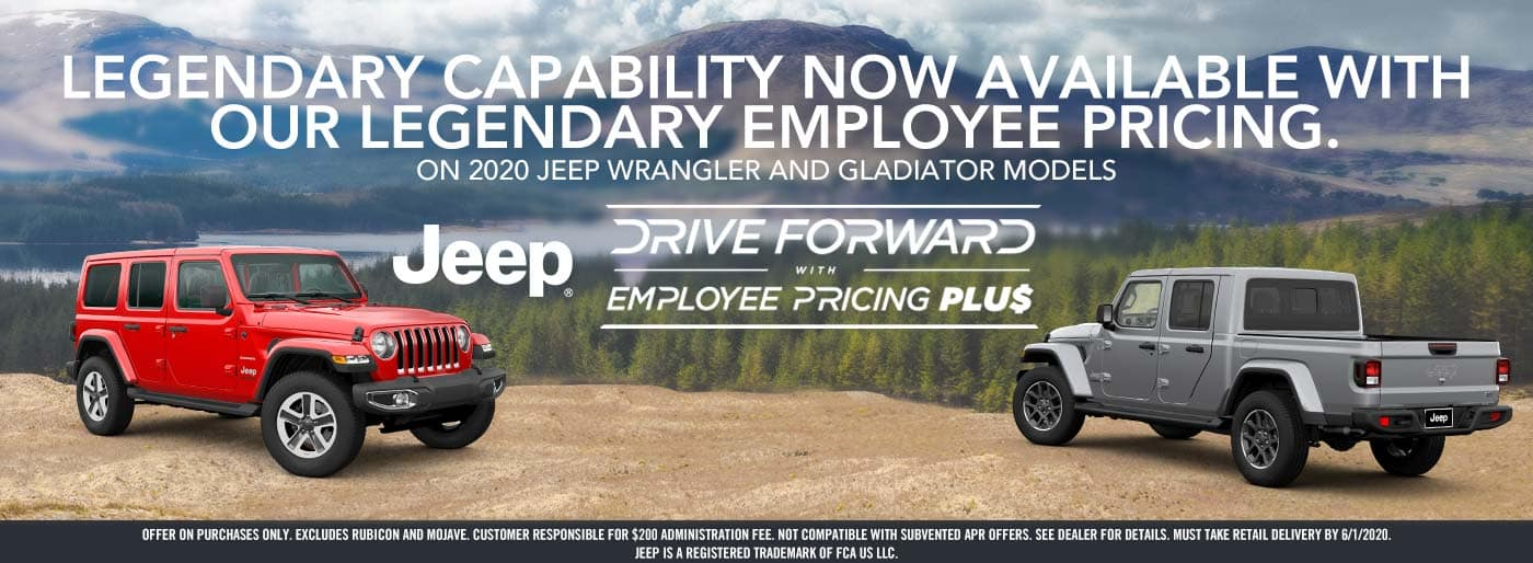 Jeep Drive Forward Employee pricing