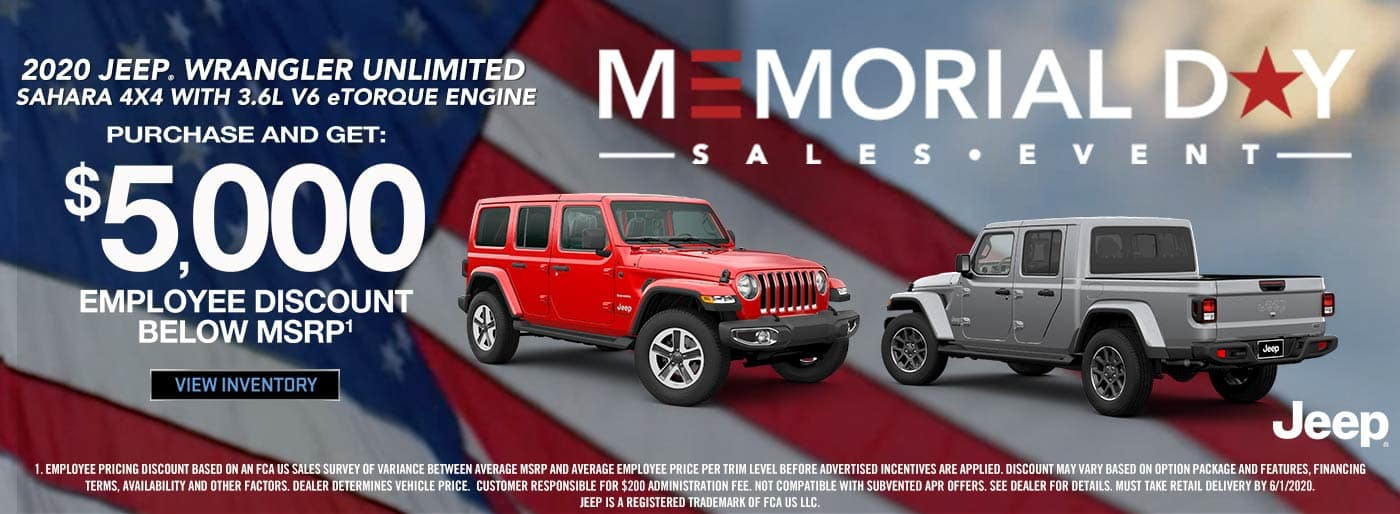 Antioch CDJR Memorial Day Sales Event Jeep Wrangler Unlimited