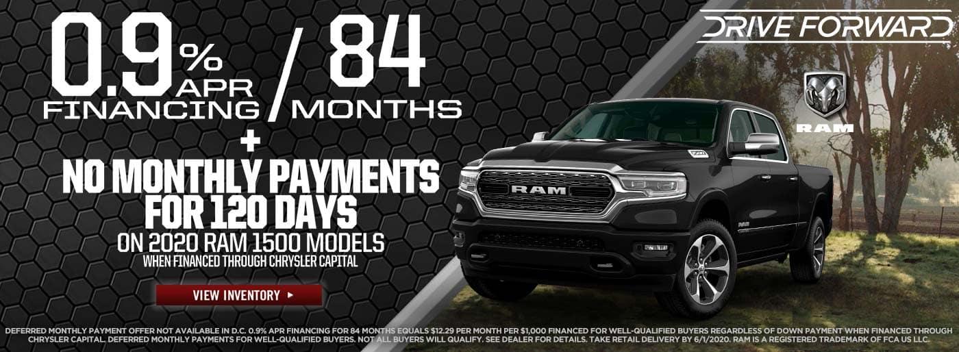 2020 Ram 1500: 0.9% Apr Financing for 84 months