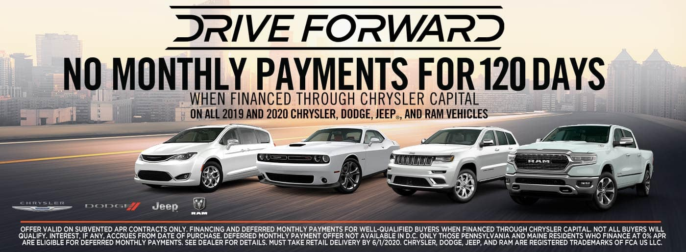 No Monthly Payments for 120 Days at Antioch CDJR
