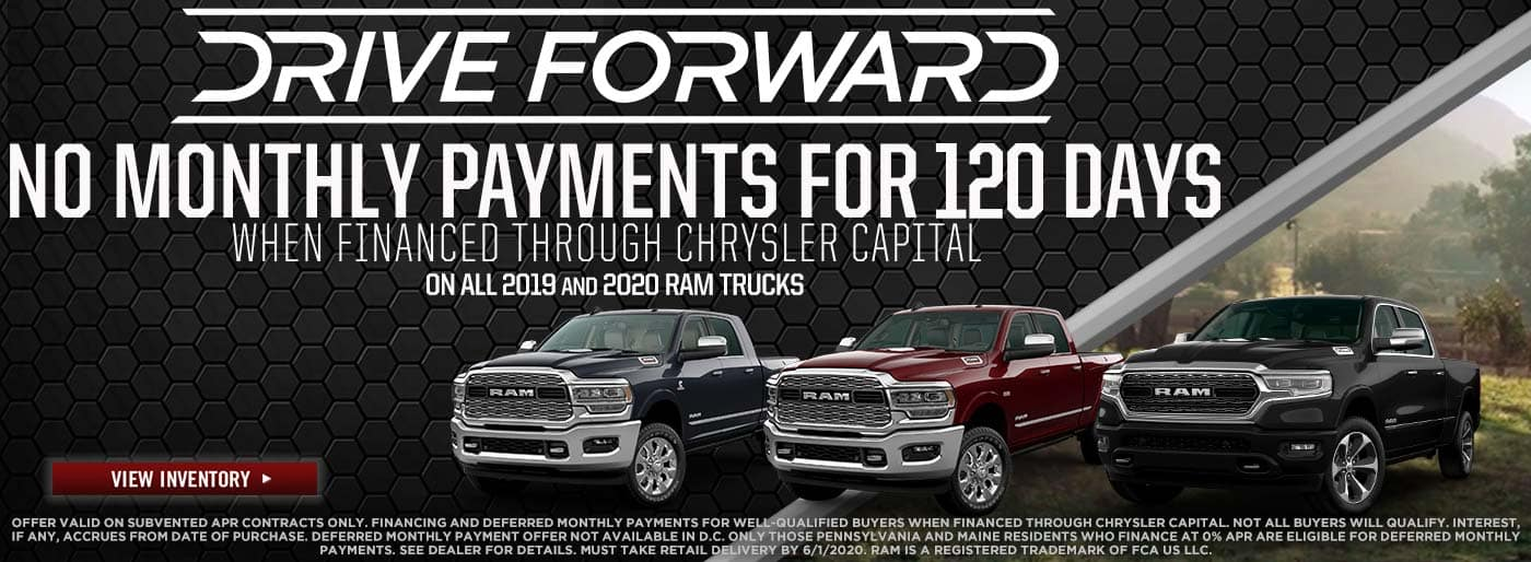 No Monthly Payments for 120 Days