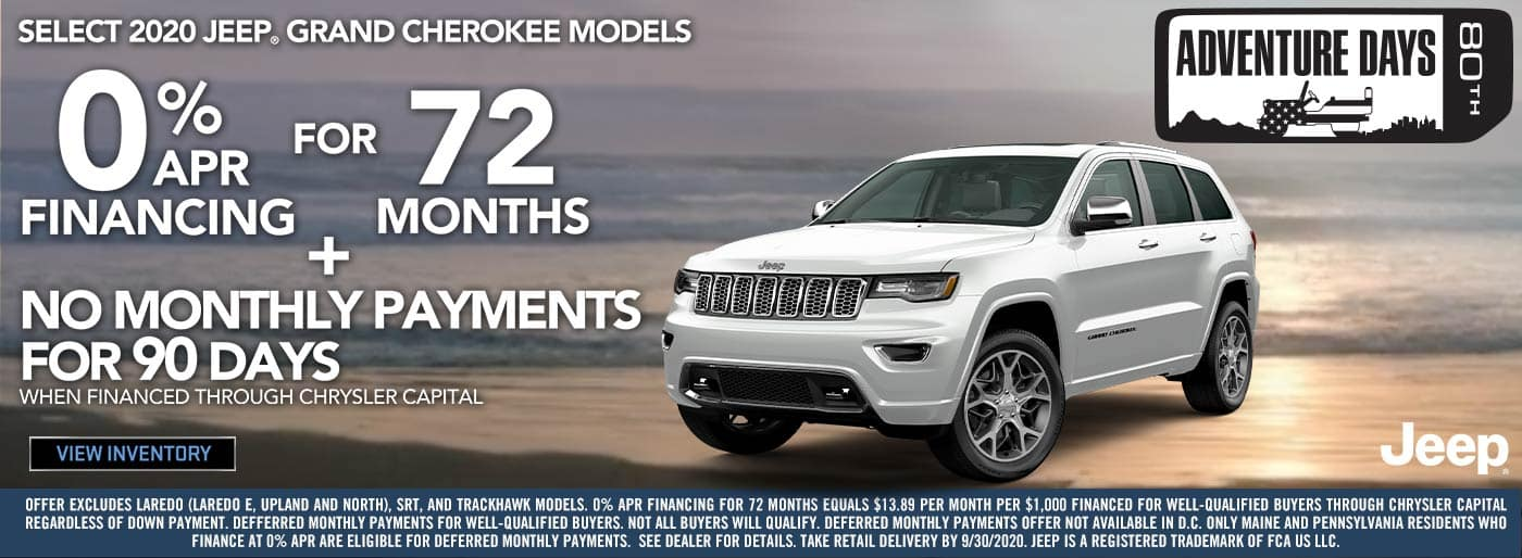 2020 Jeep Grand Cherokee 0% for 72 mo