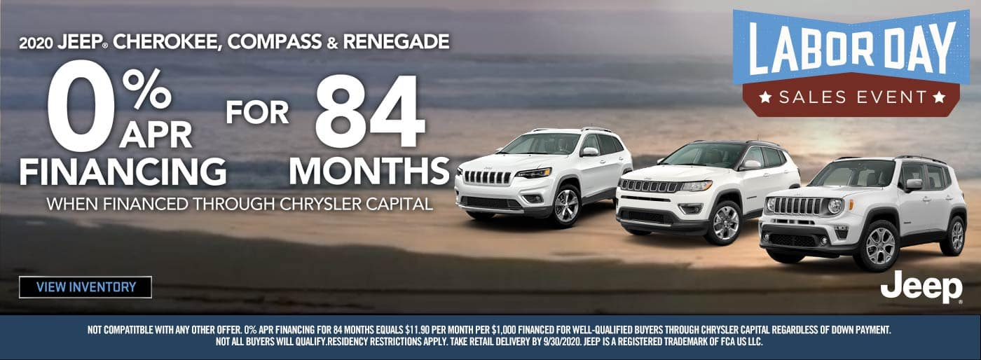 Jeep 0% APR for 84 Months