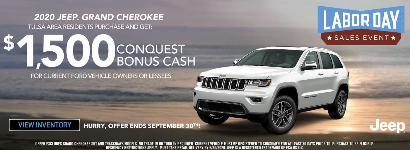 2020 Jeep Grand Cherokee $1500 Bonus Cash