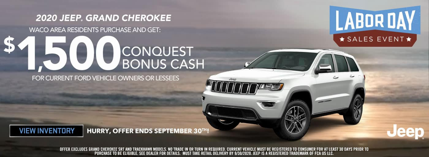 2020 Jeep Grand Cherokee $1500 Bonus Cash