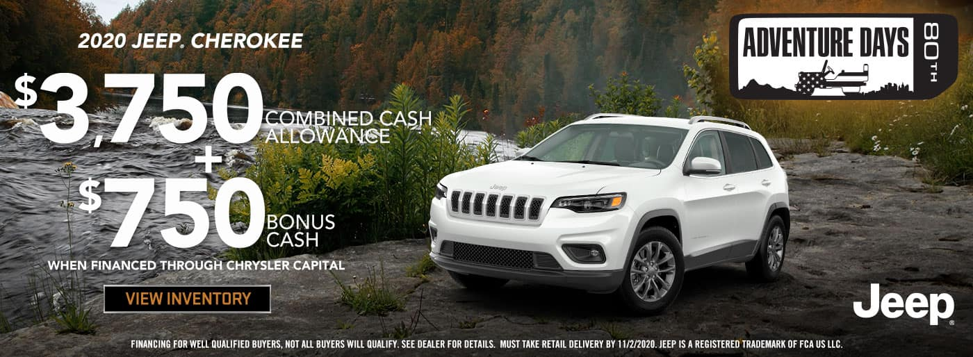 2020 Jeep Cherokee Cash Allowance offer