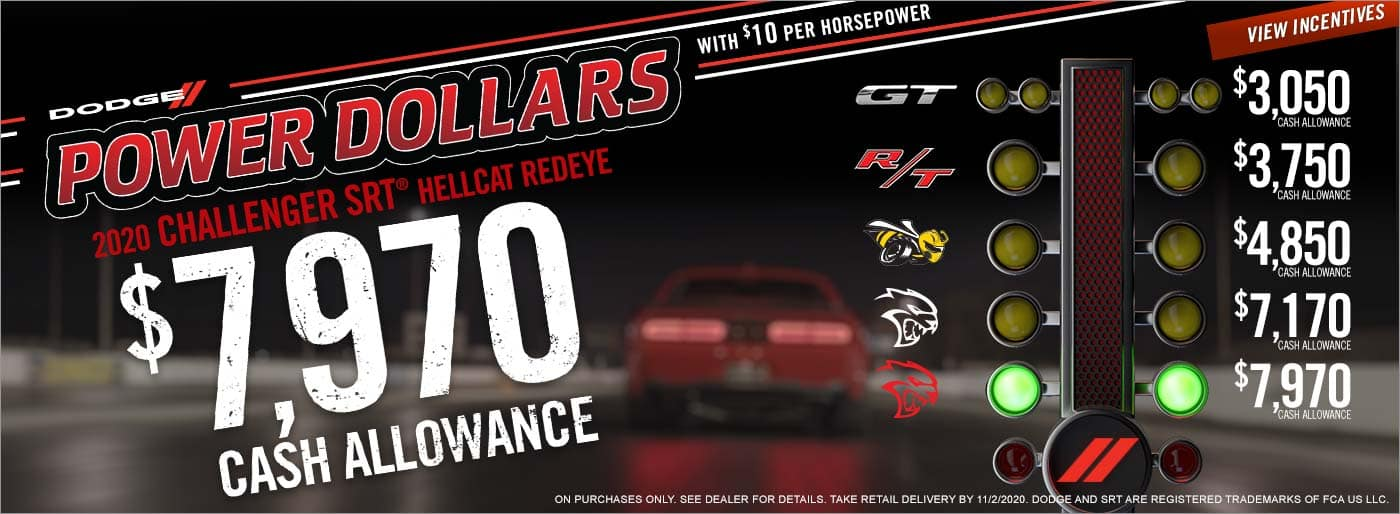Dodge Power Dollars up to $7,970