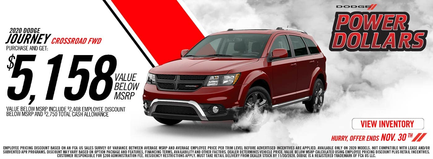 2020 Dodge Journey offer