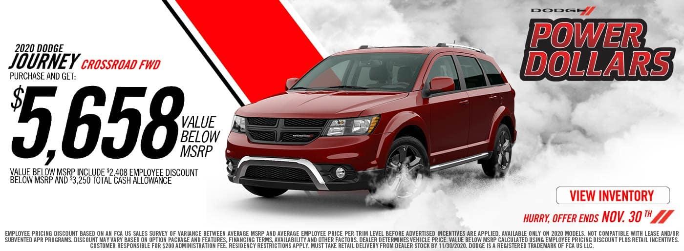 2020 Dodge Journey offer