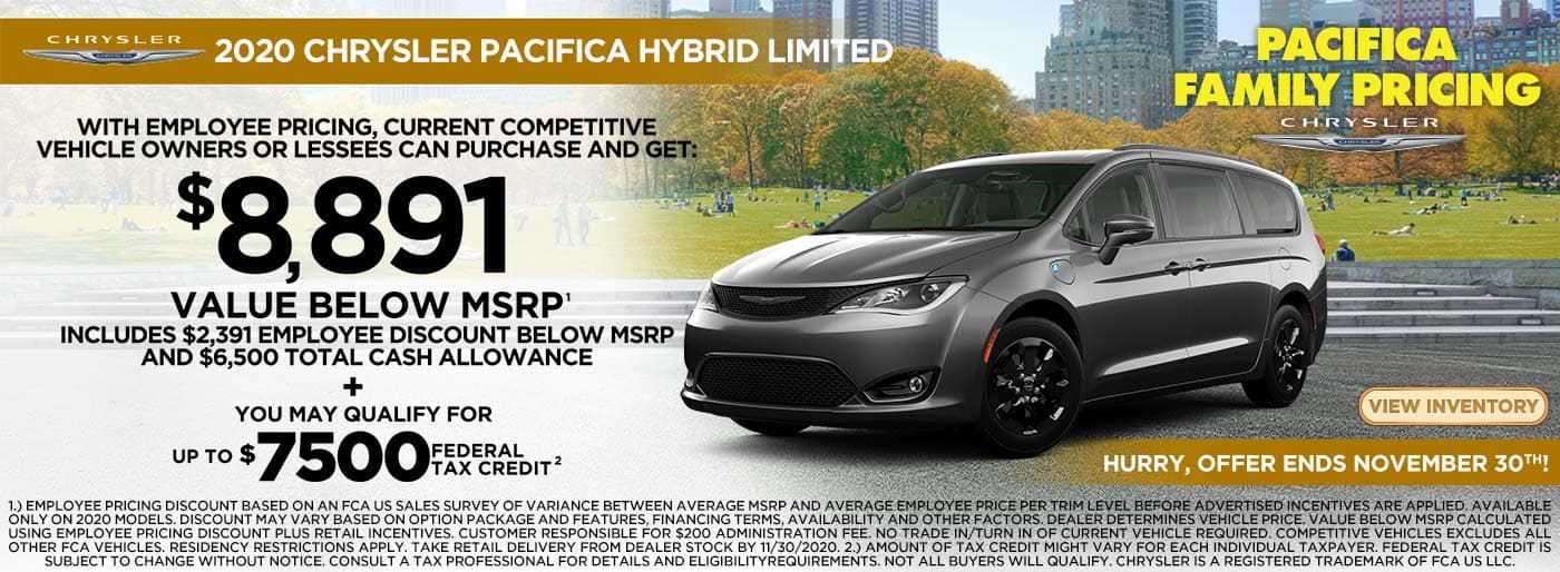 2021 Chrysler Pacifica Hybrid offer