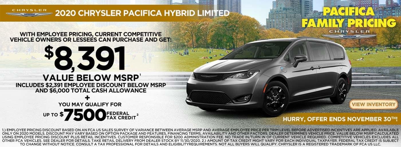 2021 Chrysler Pacifica Hybrid offer