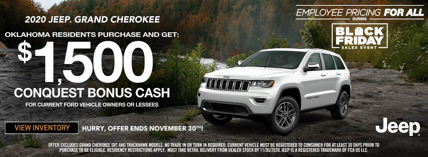 2020 Jeep Grand Cherokee $1500 conquest cash