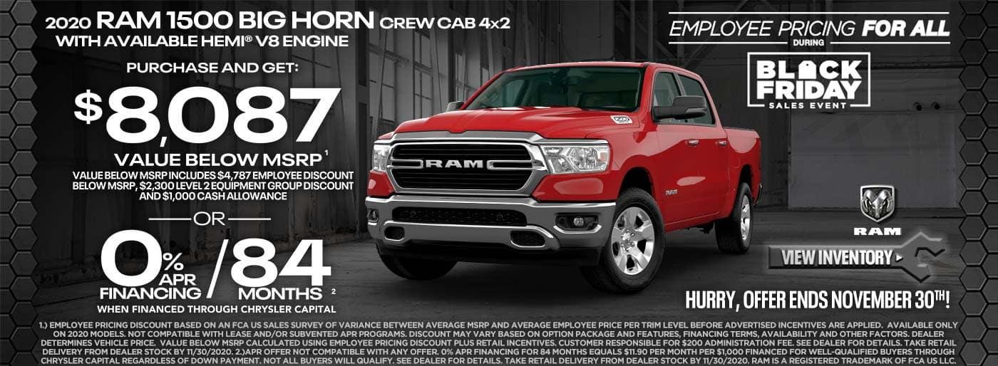 2020 Ram 1500 Bighorn $8087 off msrp
