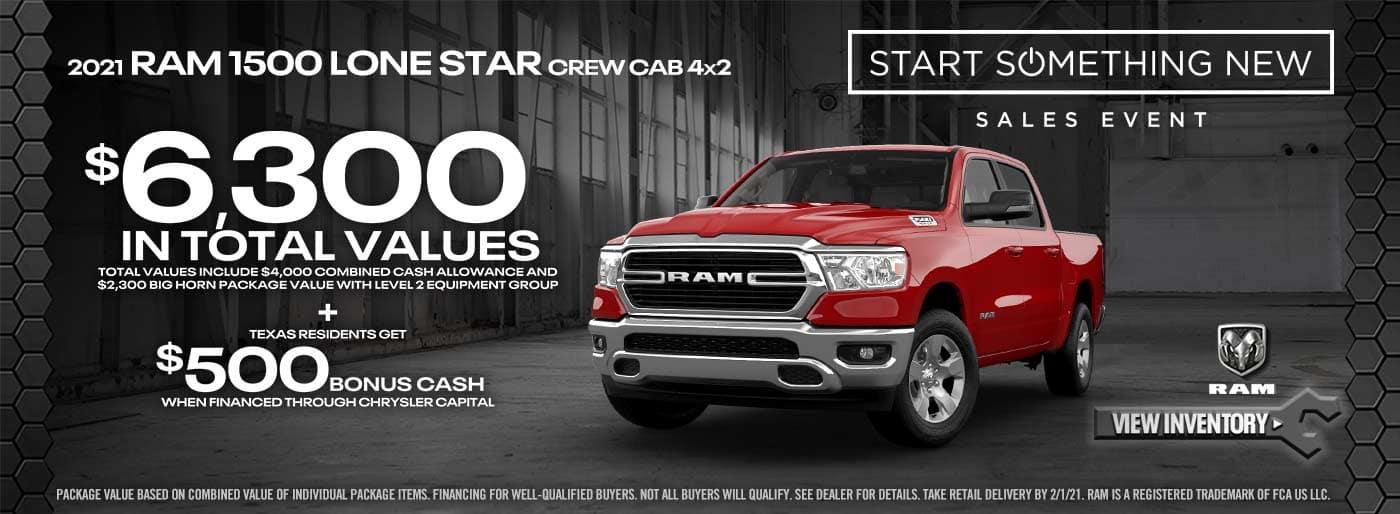 2021 Ram 1500 Lonestar offer