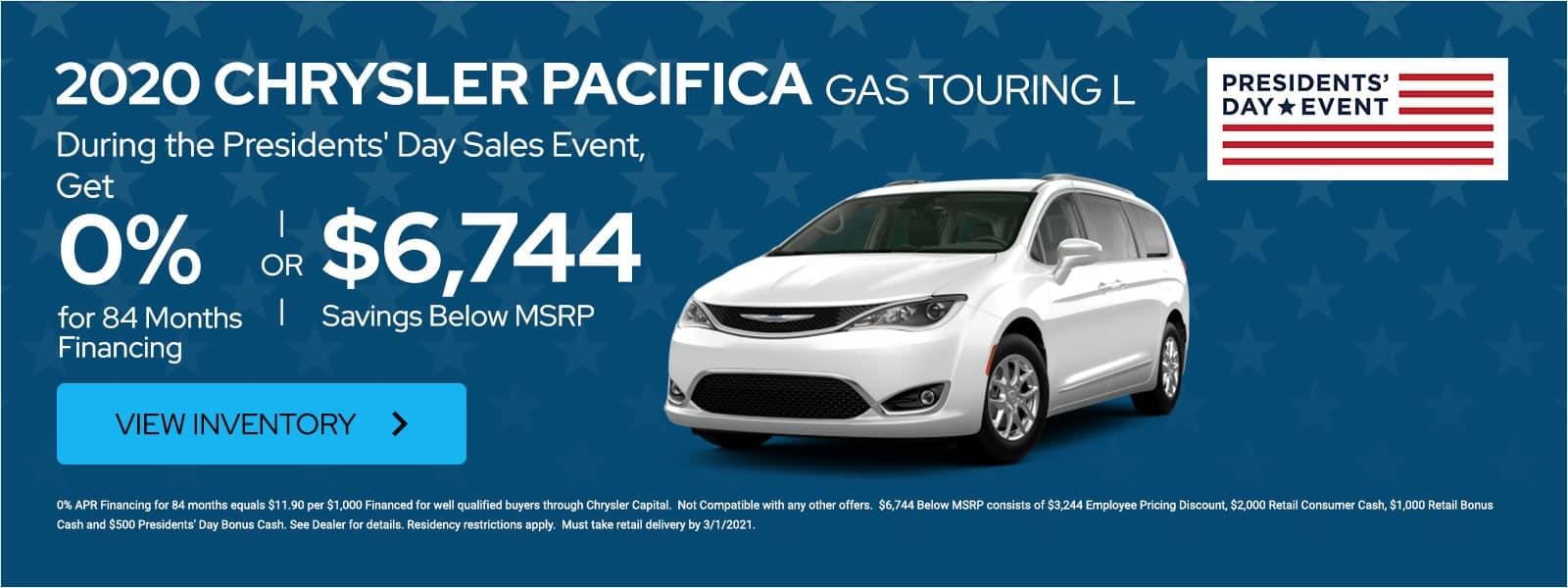 2020 Chrysler Pacifica offer