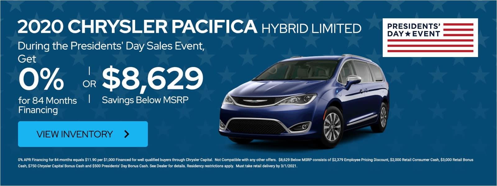 2020 Chrysler Pacifica Hybrid offer