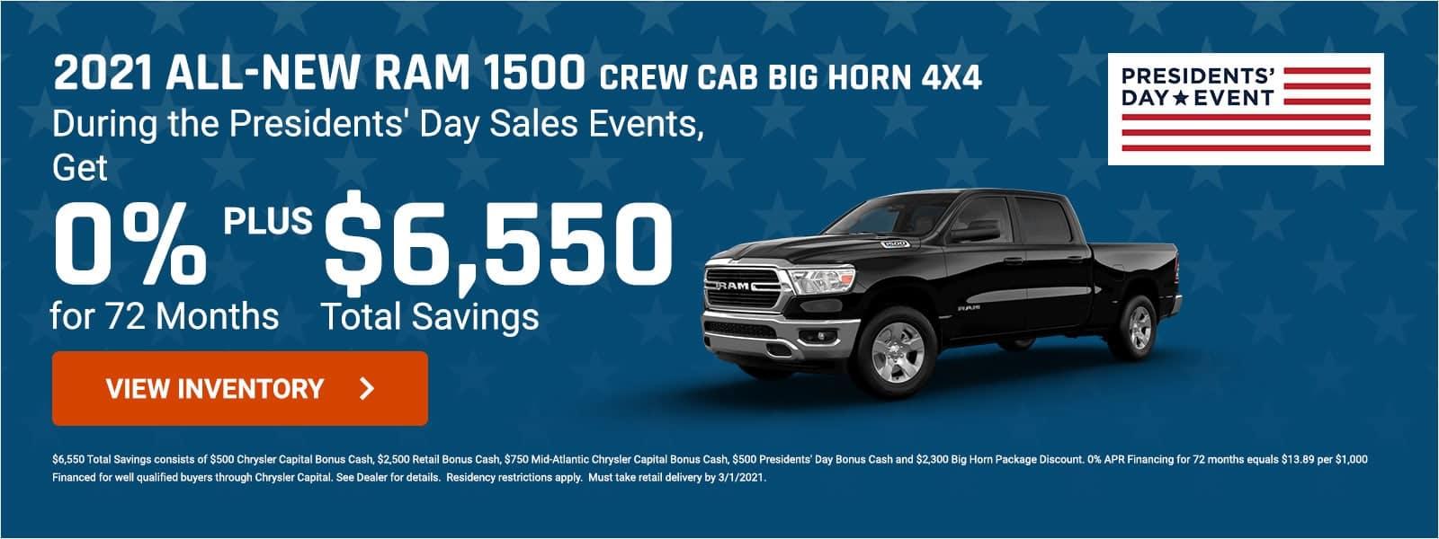 2021 Ram 1500 Big Horn offer