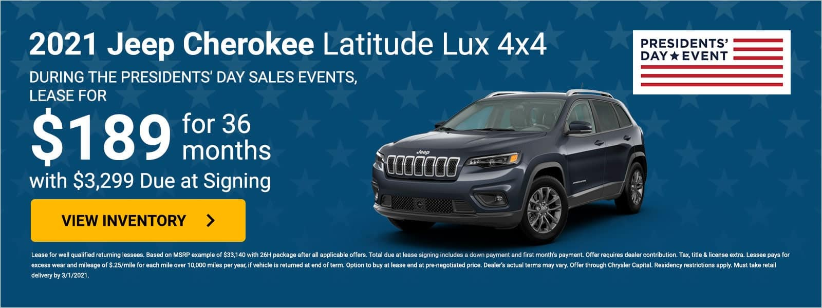 2021 Jeep Cherokee offer